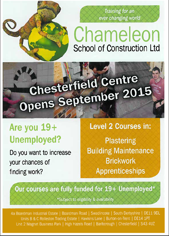 chesterfield 19+ LEAFLET