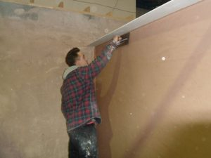 A student at Chameleon School of Construction Studying our Plastering Diplomas & NVQ Courses